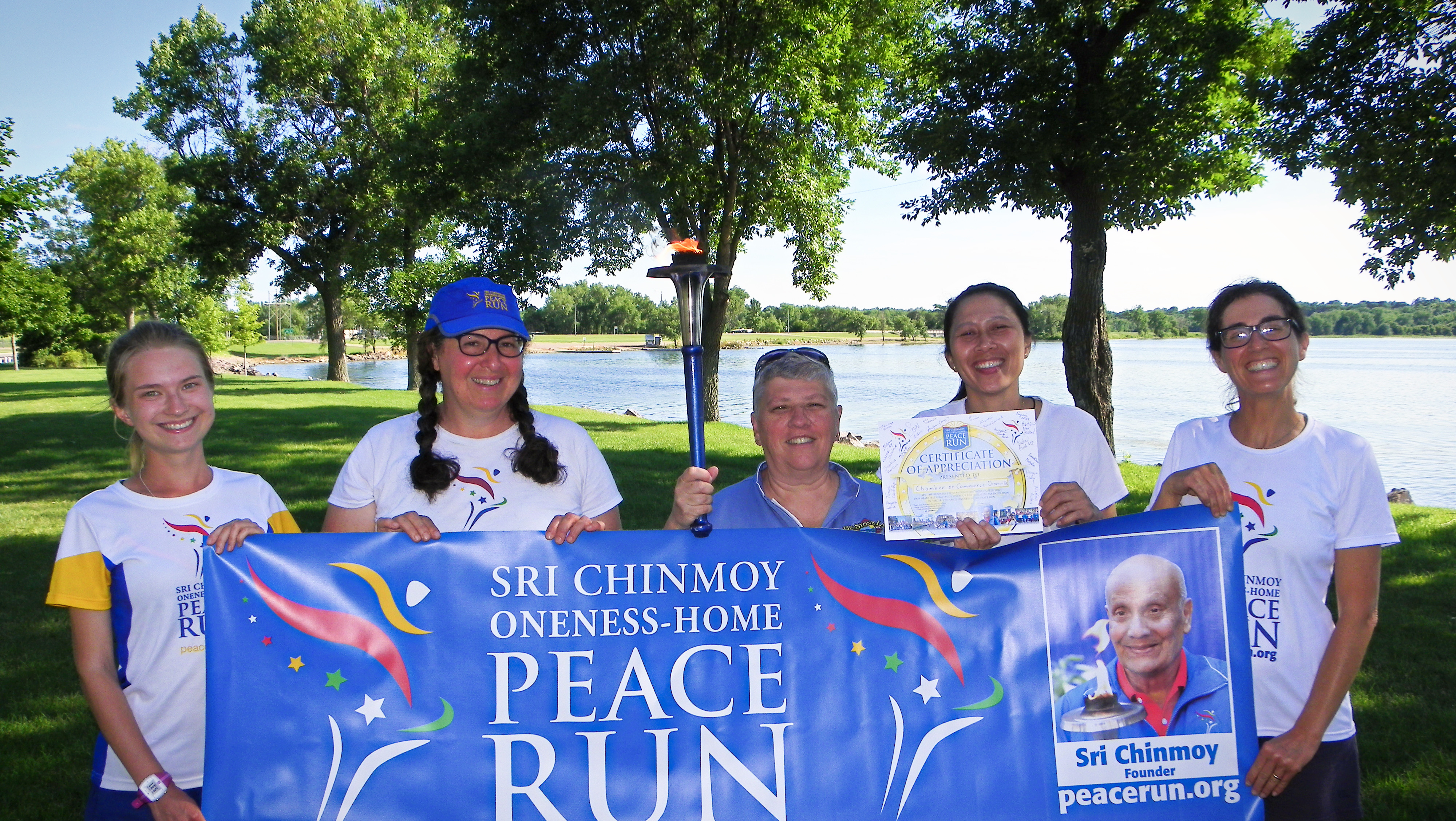 Peace Run in Ortonville at Lakeside Park