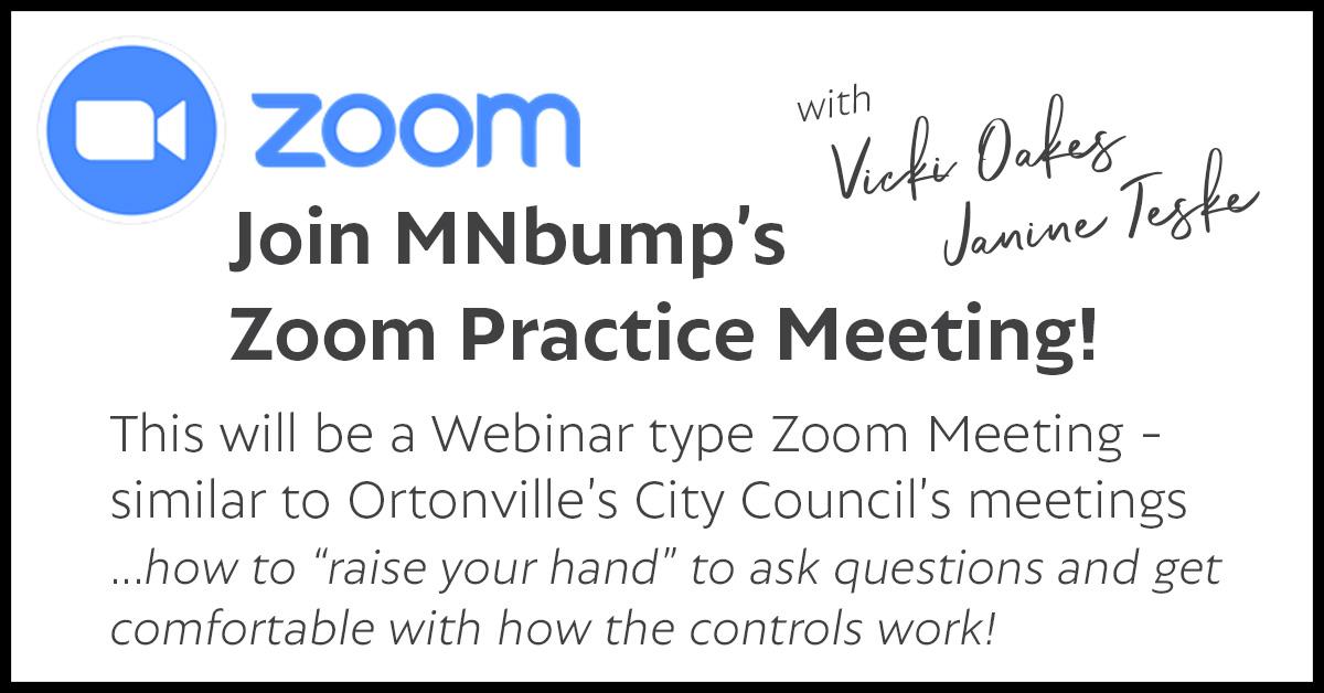 Zoom PRACTICE Meeting
