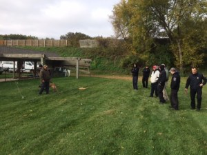Place board training during Modern Dog Training with Laz Cabrera of Police Service Dogs, Inc.