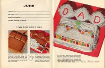 1956 Ad for Baker's Coconut showing a Father's Day cake