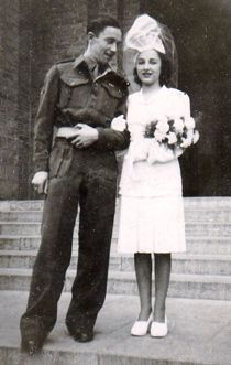 1940's wedding photo