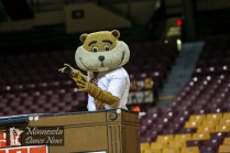 Goldy Gopher performs at the 2017 Best of the Best Showcase, hosted by the University of Minnesota Dance Team on January 6, 2017 at Williams Arena in Minneapolis, Minn. Photo Credit: Matt Blewett/MN Dance News