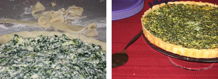 spinach pie composite