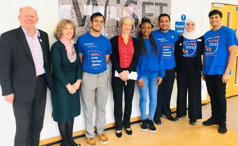 Students support MND research awareness with a conference
