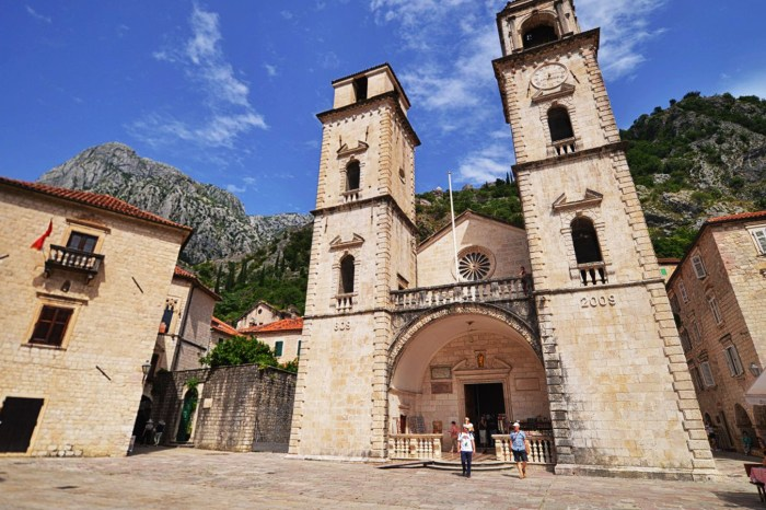 The cathedral of Saint Tryphon (Sveti Tripun) - one of the oldest cathedrals in Montenegro