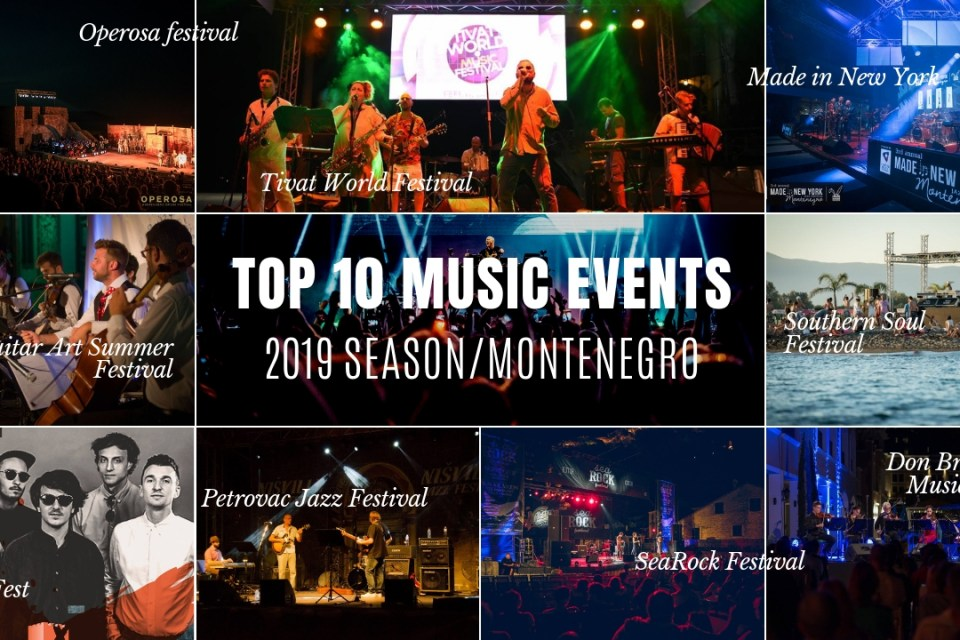 Top 10 international music events in Montenegro for the summer 2019