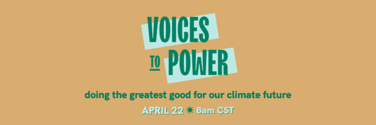 Voices to Power banner