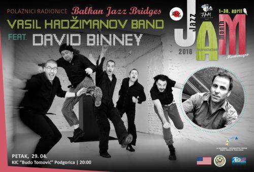 Vasil Hadžimanov Bend i ugledni američki saksofonista Dejvid Bini