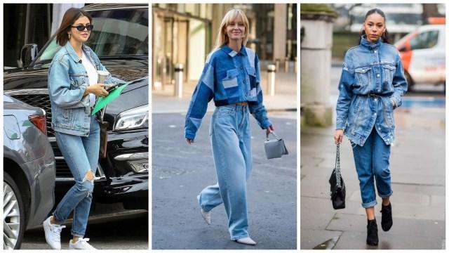 Джинсы с джинсовой курткой