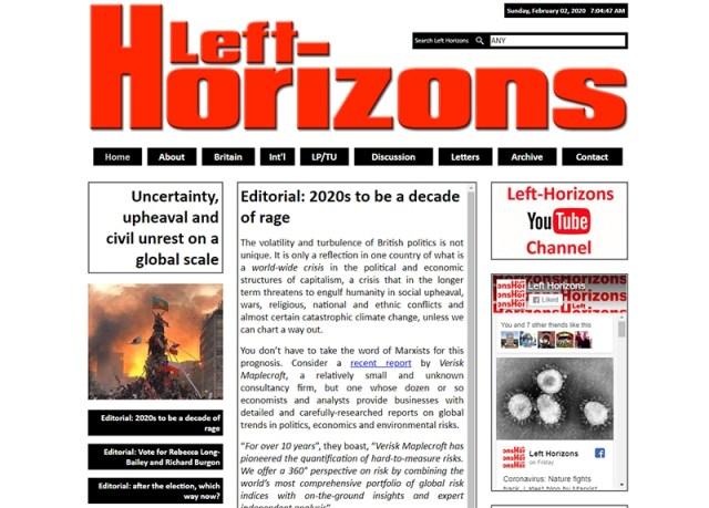 Left Horizons