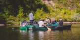 Fishing from boats on the Saint Louis River