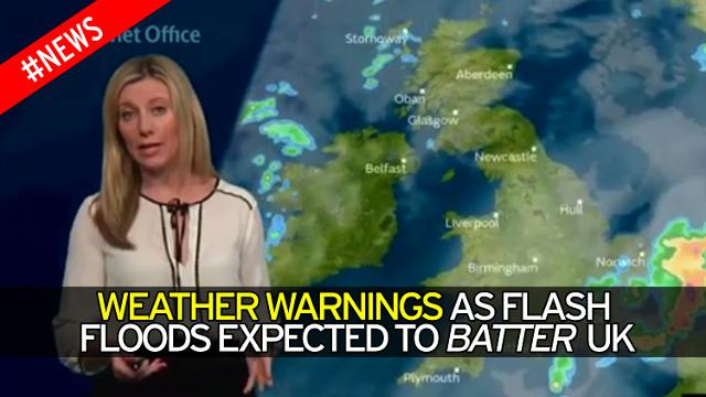 Weather Warnings Issued After Flash Floods Hit The UK, 2017
