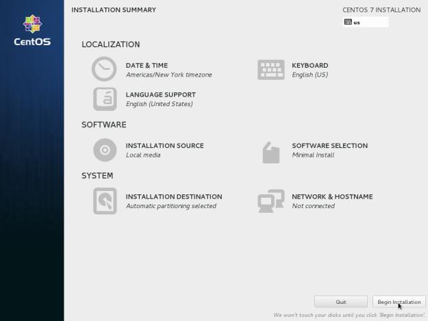 Установка CentOS 7 в картинках
