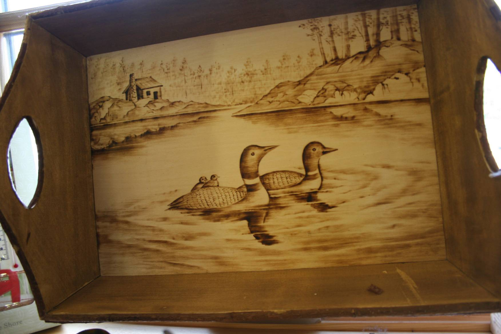 Loons in art at Itasca.