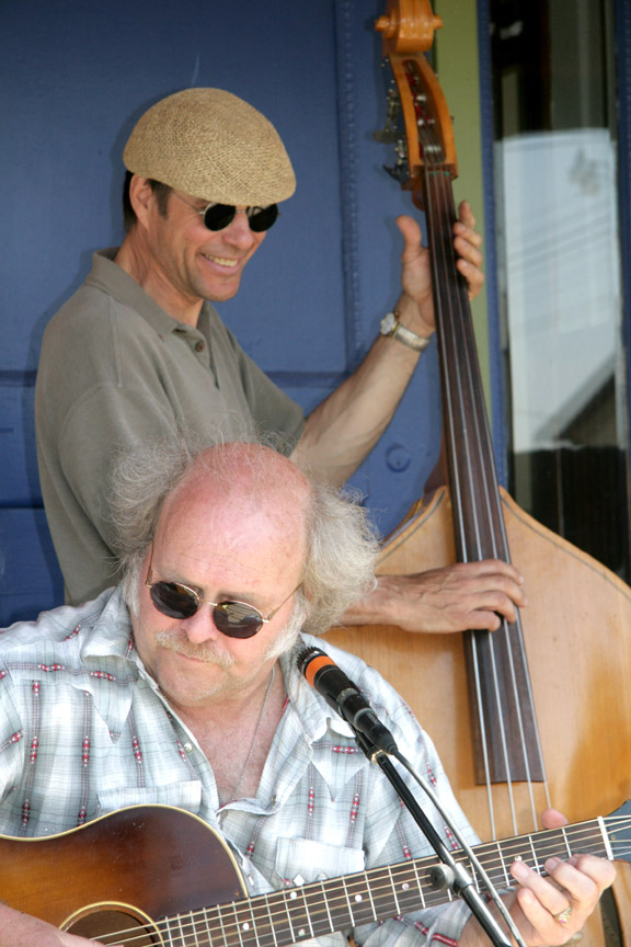 Local musicians, including Jerry Ostensoe and Richard Handeen, will perform from 6 p.m. - 10 p.m. Friday at the Old Milan School Building in Milan. Photo by Kristi Link Fernholz.