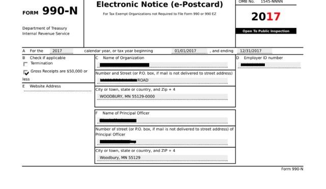 Tax Filing Information – Minnesota PTA