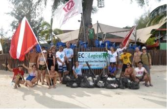 Figure 1. Teluk Dalam beach clean-up volunteers Photo by Steven Lim