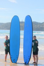 Surfing at Byron Bay