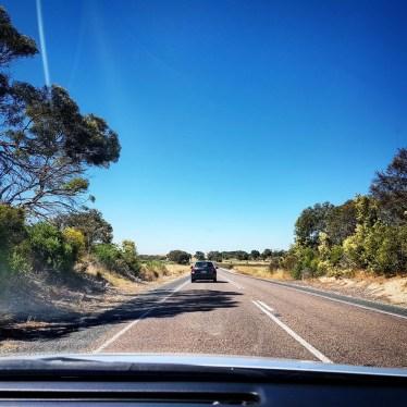 Princes Highway towards the Meningie, South Australia