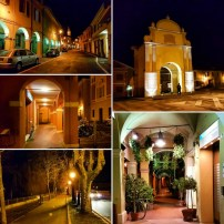 Pieve di Cento at night