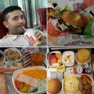 I enjoyed the Emirate's airline and Dubai airport food