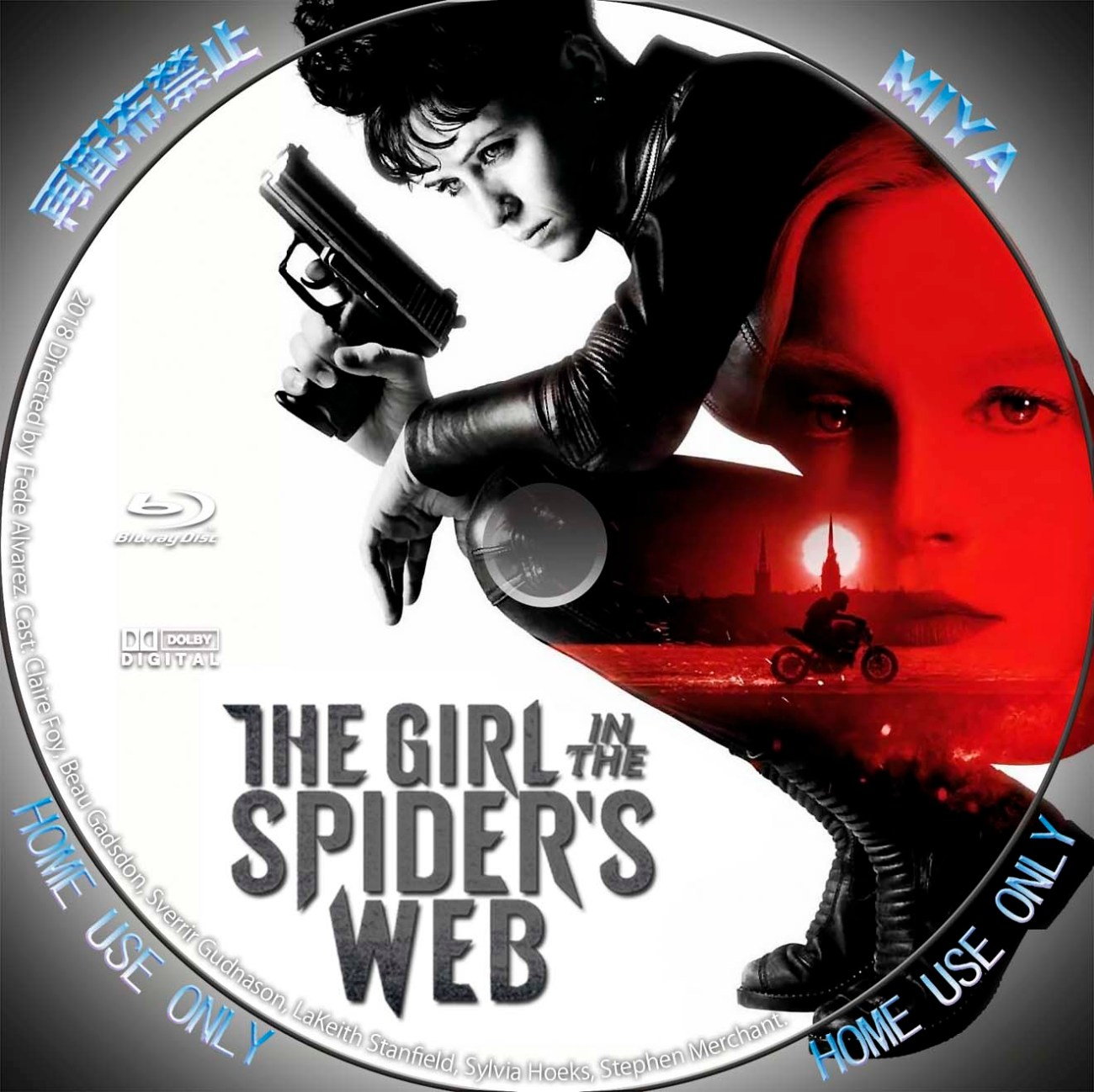 The Girl in the Spider's Web Blu-ray Label