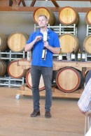 The wine tour guide at Mount Pleasant Winery, Hunter Valley Australia 3/2/2017