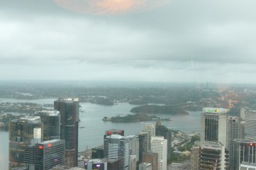 Evening view from the Sydney Tower