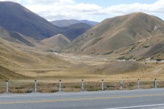 Lindis Pass between central and north Otago