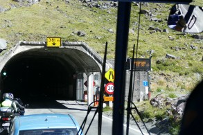 Getting ready to enter Homer Tunnel-taken from bus