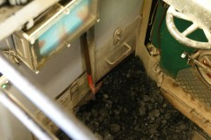 The TSS Earnshaw burns coal