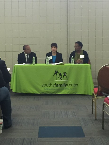 Panelists Michael Butler (State Representative), Cassandra Kaufman (St. Louis Mental Health Board), and Deborah Taylor (United 4 Children) discussed what is needed for advocates, leaders, and the field to create more opportunities for youth.