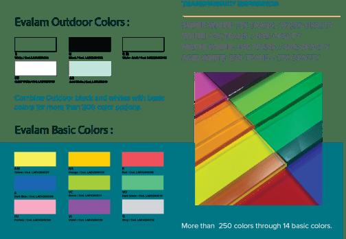 Evalam Interlayer Color Options