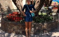 09_Vestido jeans con gladiadoras