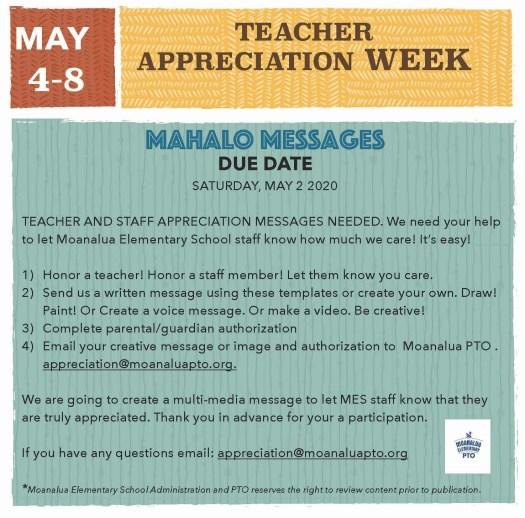 Teacher Appreciation Messages Flyer
