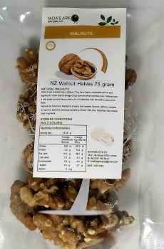 Walnuts NZ Grown Halves Crunchy Roasted 75 gram