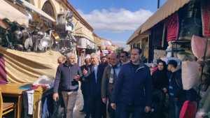 نزار بركة يبدأ حملته الإنتخابية من سوق كاسباراطا بطنجة 2