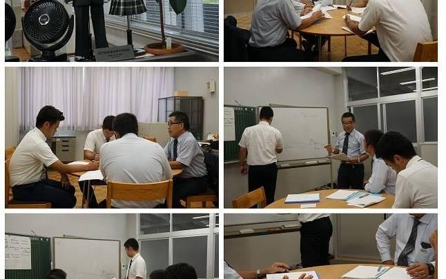 「詮議講座研修」風景in鹿児島実業高等学校