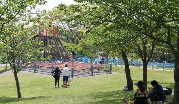 都市公園百選の一つ「鹿児島県立吉野公園」