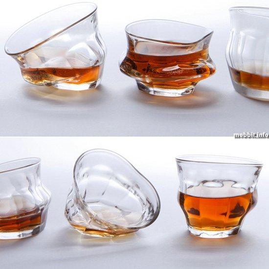 «Пьяные» стаканы