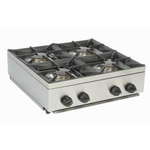 4 burner LPG mobile catering hob