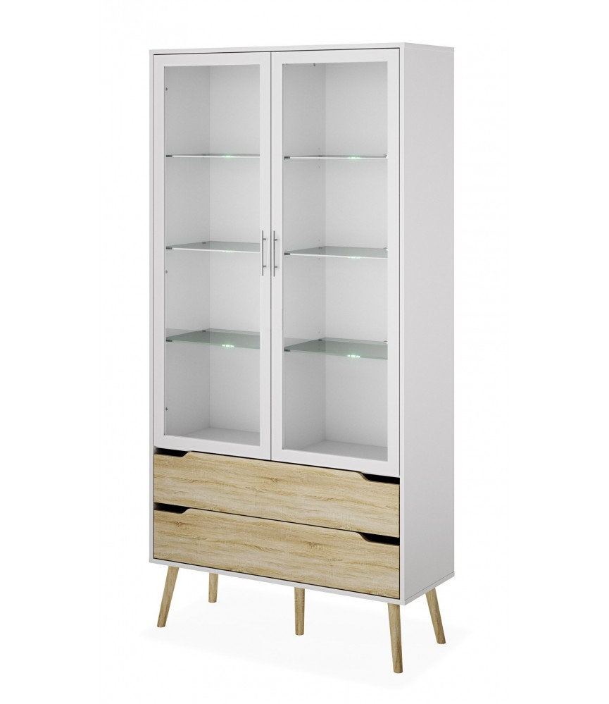 vitrine vaisselier argentier meuble scandinave moderne et tendance