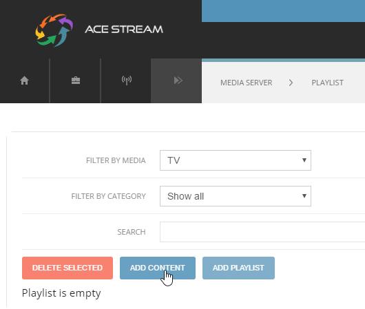 acestream agregar contenido chromecast