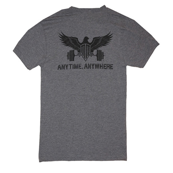2 - Anytime Anywhere - MoBell Muscle Tri-Blend T-Shirt - Back