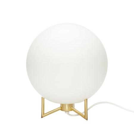 belysning Bordlampe ø26xh30 cm - Hvit/messing fra Hübsch