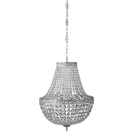 belysning Divine Krystallkrone Shadow/Sølv Ø55 cm. fra Lene Bjerre