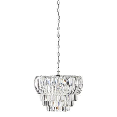 belysning Lucca Krystallkrone Clear/Sølv Ø48 cm. fra Lene Bjerre
