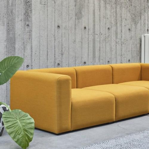 Hackney Sofa 3 -seter Steelcut 445 velour-sofa velour-sofa fra Hay