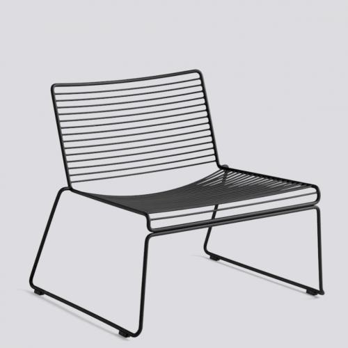 Hee Lounge Chair HAY Black loungestol loungestol fra Hay
