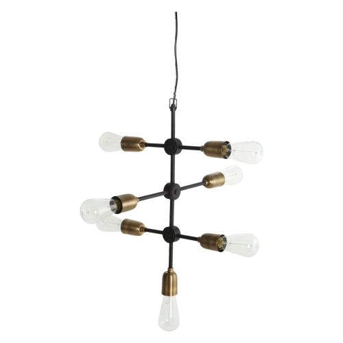 Taklampe Molecular Svart/Messing fra House Doctor - 5707644336100